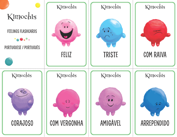Portuguese – Feeling Flashcards
