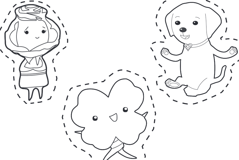 Kimochis Character Puppet Coloring Template