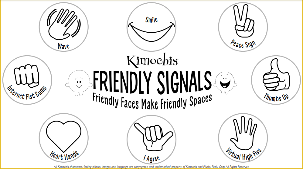 Friendly Signals Sign – Black and White